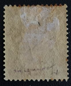 MALAYA 1886 PERAK opt Straits Settlements QV 1c on 2c MLH T25 SG#28 M3184