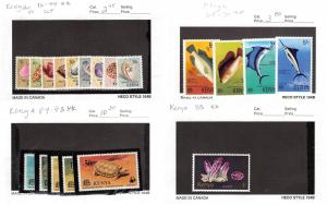 Lot of 37 Kenya MNH & MH Mint Hinged Stamps Scott Range 1 - 116 #143090 X R