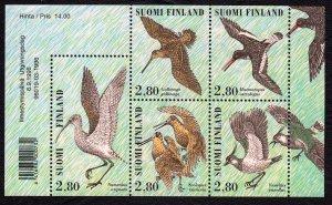 Finland 1996 Shore Birds Mint MNH Miniature Sheet SC 1014a
