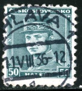 CZECHOSLOVAKIA - #208 - USED - 1935 - CZECH117AFF1