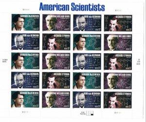 USA 3906-3909, 37c American Scientists, Sheet, Mint, SA, VF
