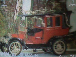 QIWAIN STAMP - LOVELY CLASSIC ANTIQUE CAR- AIRMAIL-LARGE 3-D STAMP MNH #8