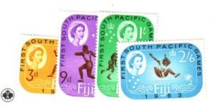 Fiji Sc 199-02 1963 South Pacific Games stamp set mint