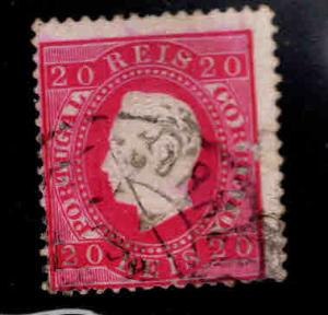 PORTUGAL Scott 40 Used King Luiz stamp double ring cancel