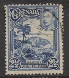 Grenada -Scott 136 - KGVI- Definitive Issue -1938 - FU - Single 2.1/2p Stamp