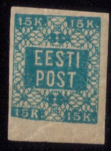 Estonia  #2 eesti post 15k Unused,Mint No Gum Fine