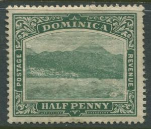 Dominica -Scott 50 - KEVII Definitive Issue -1908 - MLH - Single 1/2p Stamp