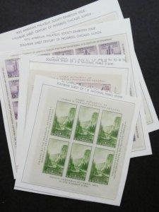 EDW1949SELL : USA 1933-34 Scott #730-31, 735, 750-51 XF, MNH Super clean Cat $98