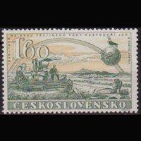 CZECHOSLOVAKIA 1958 - Scott# 848 Harvester 1.6k NH