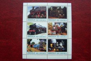 Angola 2000 MNH Trains Locomotives #1