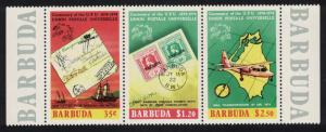 Barbuda Centenary of Universal Postal Union 2nd issue 3v Strip SG#177-179