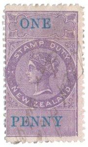 (I.B) New Zealand Revenue : Stamp Duty 1/-