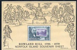 Norfolk Island Sc 248a 1979 Sir Rowland Hill stamp sheet mint NH
