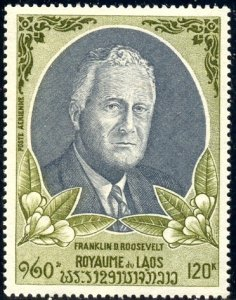 President Franklin D. Roosevelt, Laos stamp SC#C68 MNH