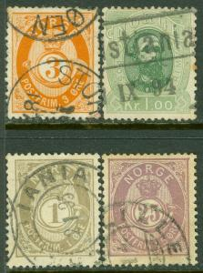 EDW1949SELL : NORWAY Scott #23//91 Also includes Sc #32 & 36. Used. Catalog $91.