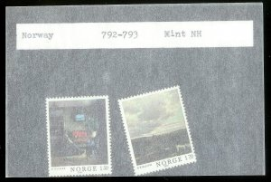 NORWAY Sc#792-793 MINT NEVER HINGED Complete Set