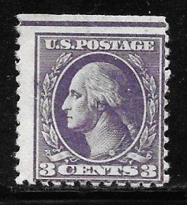 USA 530: 3c Washington, offset, Type IV, MH, SE, otherwise F