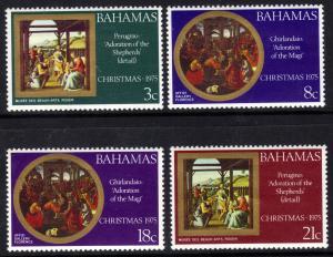 Bahamas 1975 QE2 Christmas set 4 stamps Umm SG 451 - 4 ( L755 )