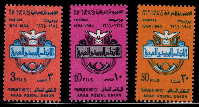IRAQ Scott 358-360 MH*  1964 Arab Postal Unionr set