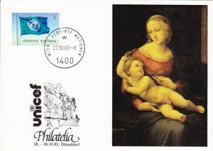 United Nations Geneva Unicef cachet maxi card