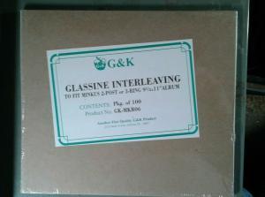 G&K Glassine Interleaving for Minkus 2 post or 3 post 9 1/2 x 11 album