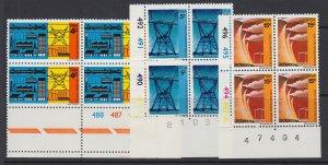 South Africa, Scott 386-388, MNH blocks of four