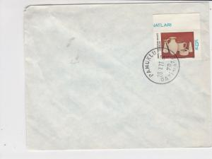 cyprus 1977 jug cup stonewear stamps cover ref 21187