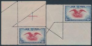 #C23 VAR. EAGLE (2) DIFFERENT FOLDOVER ERRORS BS4118