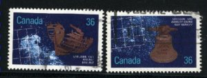 Can #1142,1144   -3   used VF 1987 PD
