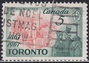 Canada 475 USED 1967 View of Modern Toronto 5¢