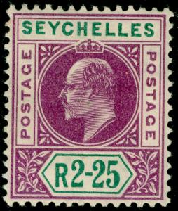 SEYCHELLES SG70, 2r.25 purple & green, VLH MINT. Cat £55.