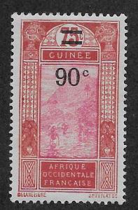FRENCH GUINEA SC# 110  FVF/MOG    1927