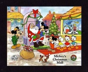 DOMINICA - 1988 - DISNEY - MICKEY - SANTA - CHRISTMAS MALL - MINT S/SHEET!