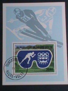 UPPER VOLTA-1975- WINTER OLYMPIC GAMES INNSBRUCK'76- CTO S/S VERY FINE