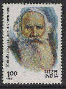 INDIA SG898 1978 LEO TOLSTOY(WRITER) MNH