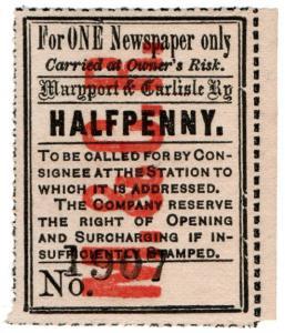 (I.B) Maryport & Carlisle Railway : Newspaper Parcel ½d