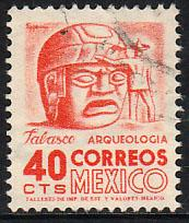 MEXICO 880, 40cents 1950 Definitive 2nd Printing wmk 300. USED. F-VF. (1407)