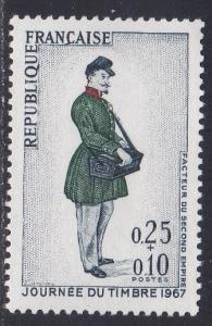France # B408, Stamp Day - Letter Carrier, NH, 1/2 Cat.