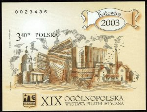 Poland #3688 Souvenir/Mini Sheet Imperf MNH- Natl Philatelic Exhibition (2003)