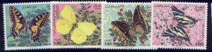 Algeria 668-71 MNH Butterflies