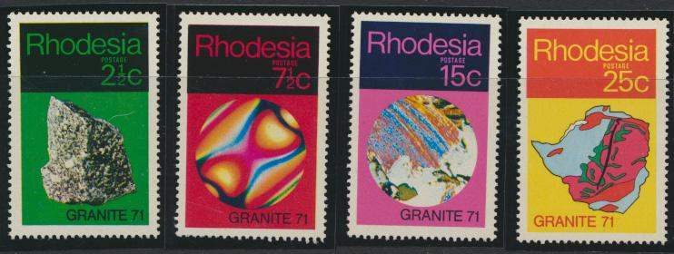 Rhodesia   SG 465 - 468  SC# 310 -313  MNH Geological Synposium see details