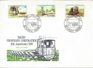 Nauru Phosphate Corporation 10th Anniversary 6th May 1980 First Day Cover U3591