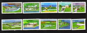 CANADIAN SET ON 1983 FORTS STAMPS USED LOT#93