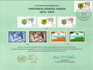 UN SC5 UPU Geneva Cancel FDC