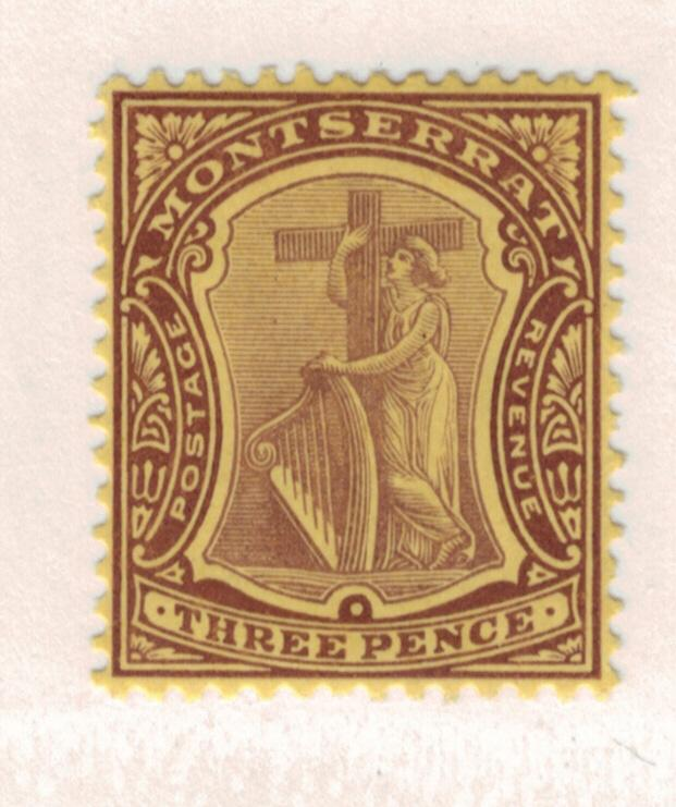 Montserrat Scott #35, Mint, Symbol of the Colony Issue From 1908-13 - Free U....