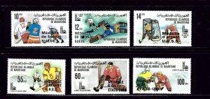 Mauritania 440-45 MNH 1980 Overprints