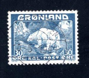 Greenland #7,   VF, Used, CV $7.50 ....2510088