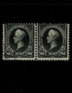 Scott #276-276A Fine-used. SCV - $2,600.00