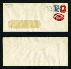Air Mail Cover Penn Ball Bearing Co., Philadelphia, Pennsylvania dated 11-6-1956