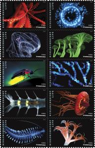 5264-5273 (5273a) Bioluminescent Life Block Of 10 Mint/nh FREE SHIPPING